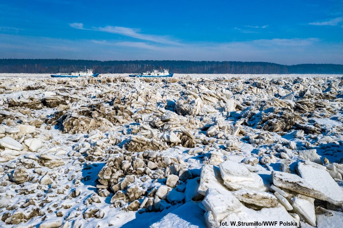 Zatory lodowe na Wiśle